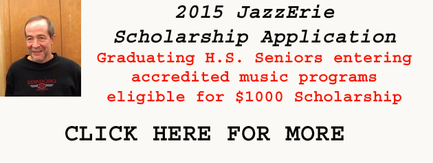 2015 JazzErie Scholarship Applications Open
