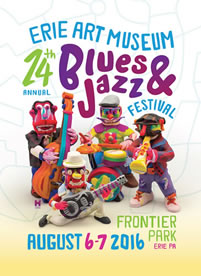Erie Art Museum 2016 Blues & Jazz Festival poster