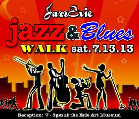 2013 Jazz & Blues Walk poster