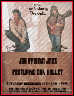Joe Frisina Jazz poster with Dan Hallett