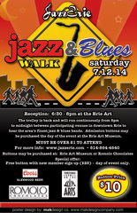 2014 Jazz & Blues Walk poster